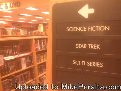 Star Trek has its own section in the book store